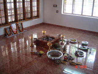 Ganapathi omam pooja conducted very early in the morning
