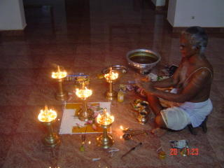 Bagavathi seva pooja conducted in the evening