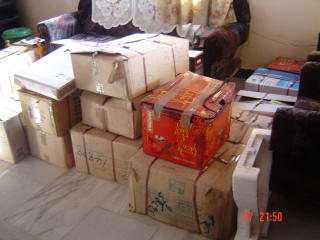 This is the state of jus one room dumped with the packed things...
