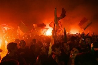 Italian fans celebrating in Rome..