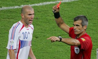 Zidane red carded - The turning point
