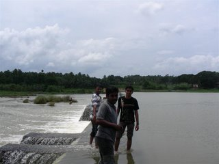 This is Bharatha Puzha(river) where we were playing for a long time...