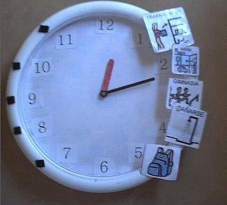 Como ense ar la hora con reloj analogico metodo de - Reloj pegado pared ...