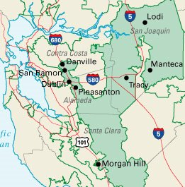 East Bay and San Joaquin County