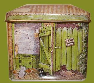 Blechdose - Klo-Häuschen - Toiletten-Häuschen