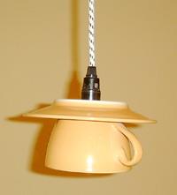 Kaffeetasse als Lampe im Ringcenter Frankfurter Allee