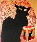 Blechdosen mit Katzen