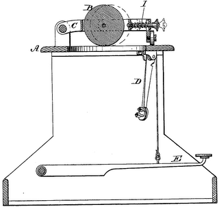 typebar mechanism of upstrike typewriter (cross section)