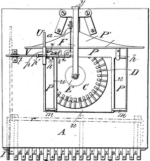 Sholes' first type-writing machine