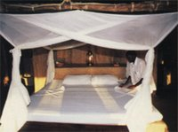 Four-poster bed, Kipungani Explorer, Lamu Island, East Coast, Kenya