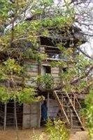 Treehouse, Diamond Beach Village, Manda Island, East Coast, Kenya