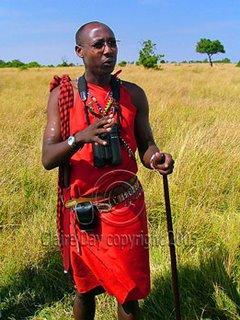 21st-Century Masai Fred! Masai Mara, Kenya safari