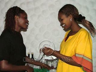 Even the waitresses smile in Kenya!
