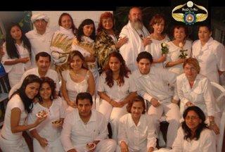 Los participantes en la Exaltacion
