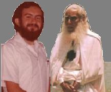 El entonces Instructor de Yoga y de Fisica Mental Dr. Gonzalo Guevara con el Maestro Estrada, composicion fotografica, no por ello menos real... la imagen original esta deteriorada por el tiempo.
