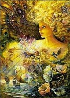 Una Mermaid o Sirena rodeada de Flores...