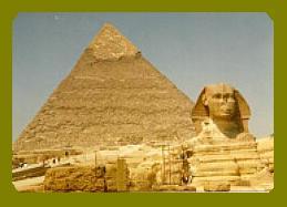 La Esfinge de la Piramide de Keops.