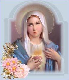 La Santisima Virgen Maria, demostrando la apertura del Corazon.