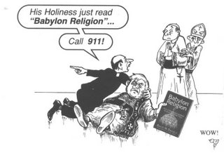 jack chick on pope benedict