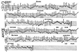Primera página del Harmonice Musices Odhecaton de Petrucci