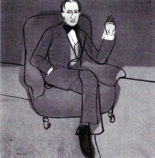Arthur Lourié retratado por Petr Mituric (1915)