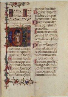 Manuscrito de canto gregoriano realizado en Venecia en el siglo XV