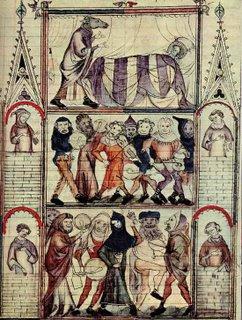Ilustración de Le roman de Fauvel. Biblioteca Nacional de París