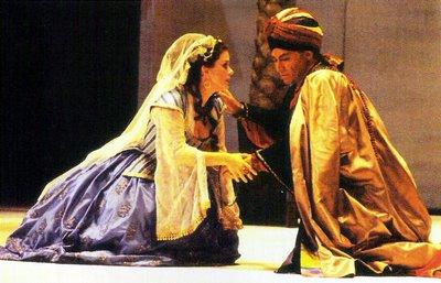 Malin Hartelius y Karl Maria Brandauer en 'El rapto en el Serrallo' de Mozart. Ópera de Zúrich