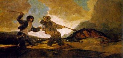 A Garrotazos. Francisco de Goya