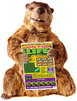 Gus the Groundhog for the PA Lottery