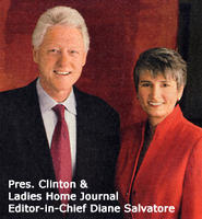 Pres. Clinton and Diane Salvatore