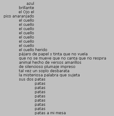 Poesía en forma de pájaro, Jorge Eduardo Eielson (1924-2006)
