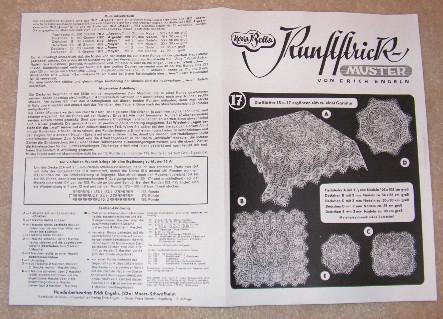 : Knitting a German doily pattern, part 2: Erich Engeln patterns