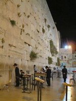 Jerusalem Western Wall by night