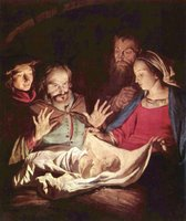 The infant Jesus in Adoration of the Shepherds, Gerard van Honthorst