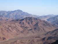 Photo from the summit of Mount Sinai, taken by Ian Sewell in December 2004