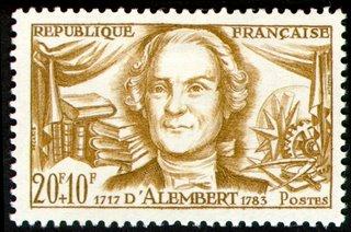 Selos com Matemáticos Famosos (D'Alembert)