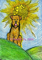 airedale terrier dog art