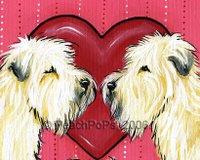 Wheaten Terrier Valentine Painting