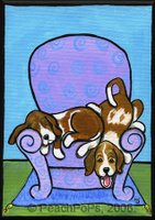 Basset Hound Dogs on chair