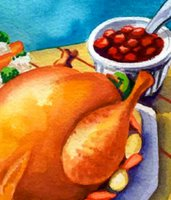 turkey and cranberries