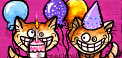 birthday cats painting