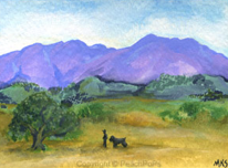 Saddleback Mountain in Orange County, California Painting