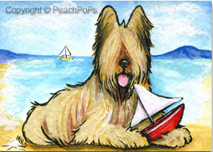 salty sea dog painting of a briard dog