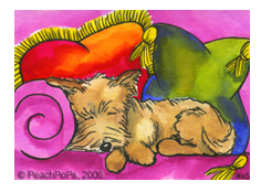Cairn Terrier Mini Painting