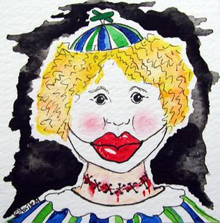 trick-o-treater clown