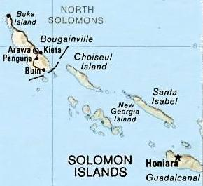 Bougainville-Solomons Map
