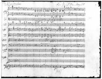 Mozart, score of piano concerto