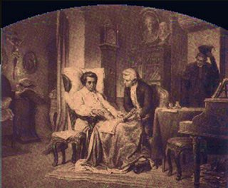 Süssmayer at Mozart's deathbed