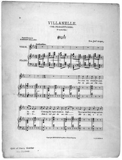 Library of Congress's score of Dell'Acqua's 'Villanelle'